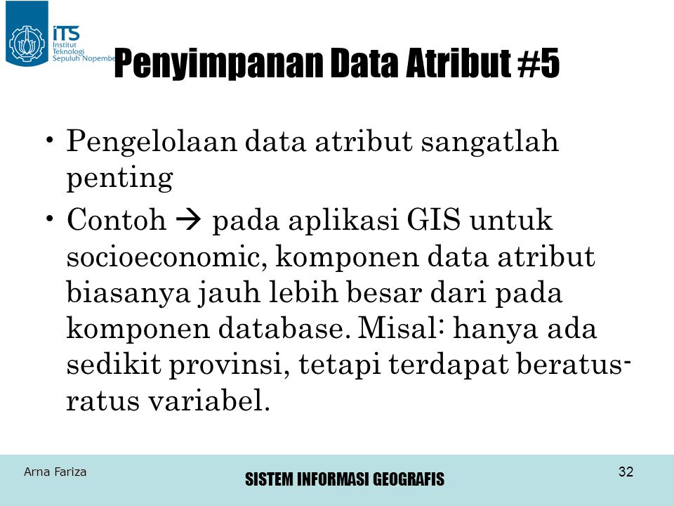 Penyimpanan Data Atribut #5