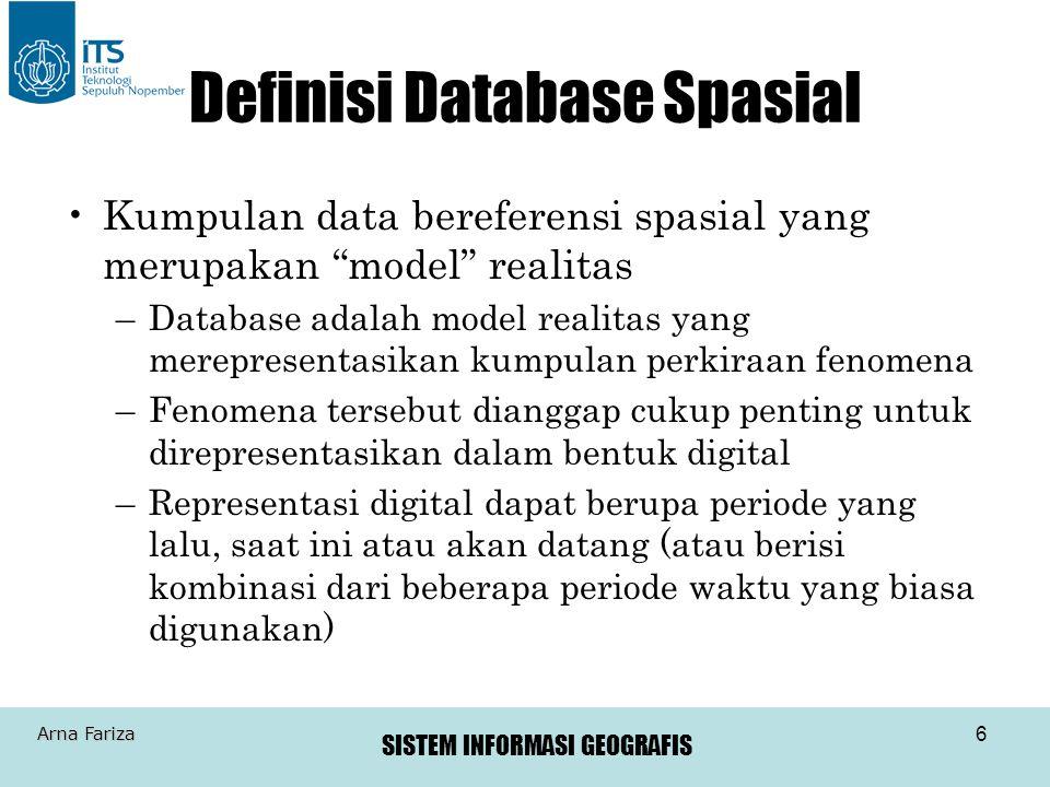 Definisi Database Spasial