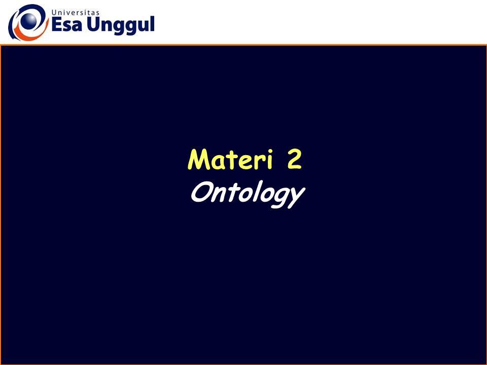 Materi 2 Ontology