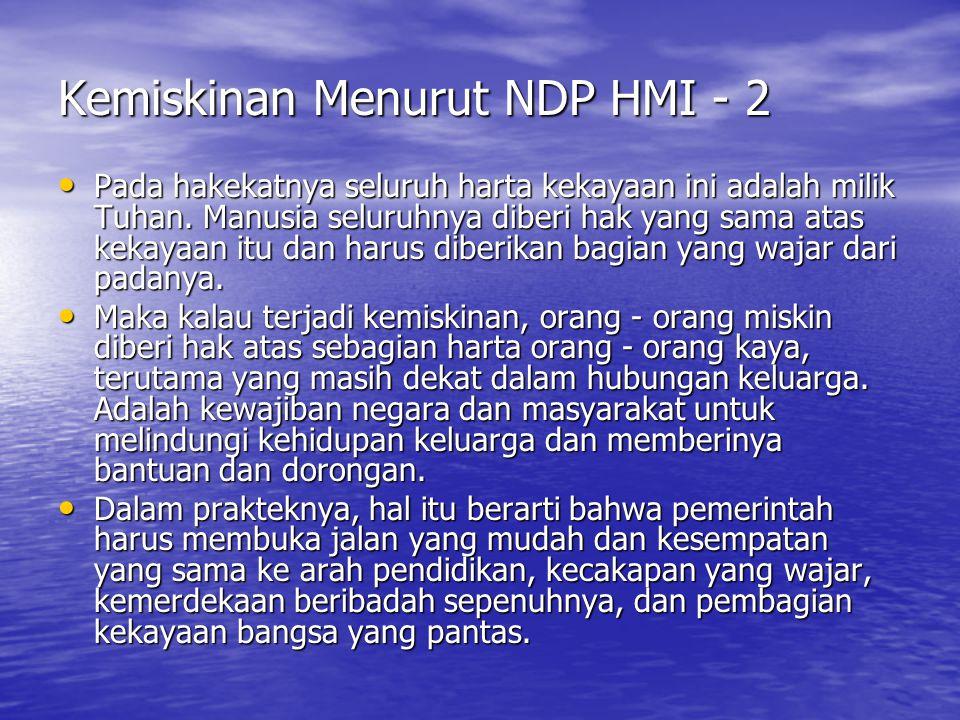 Kemiskinan Menurut NDP HMI - 2