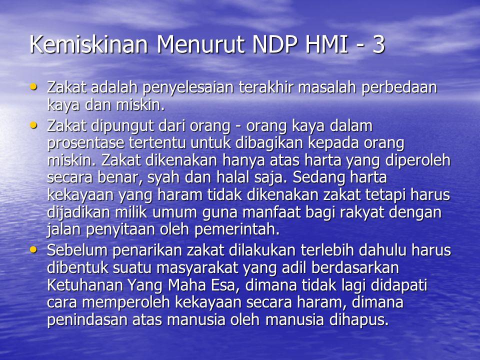 Kemiskinan Menurut NDP HMI - 3