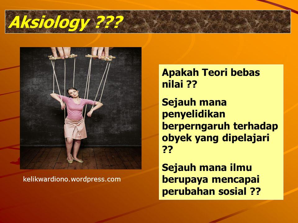 Aksiology Apakah Teori bebas nilai