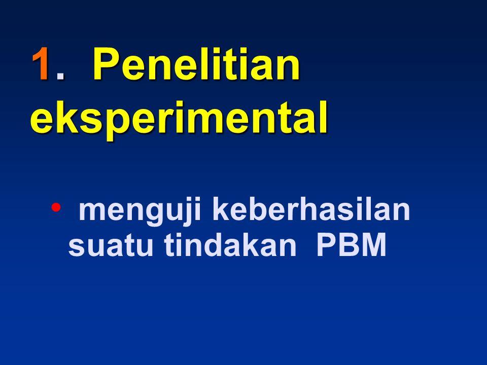 1. Penelitian eksperimental