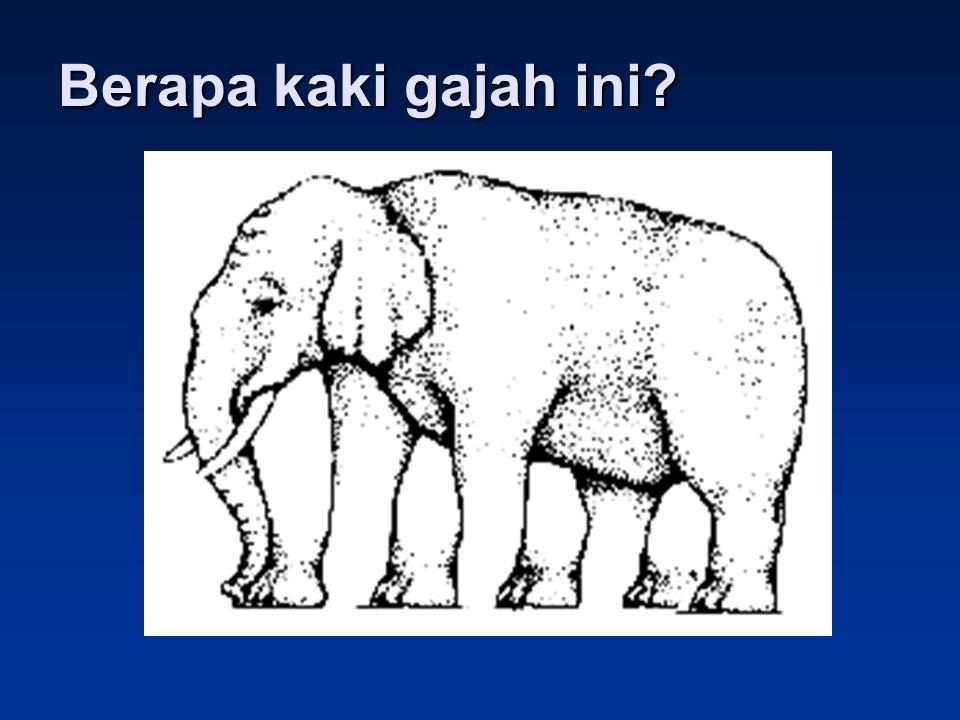 Berapa kaki gajah ini