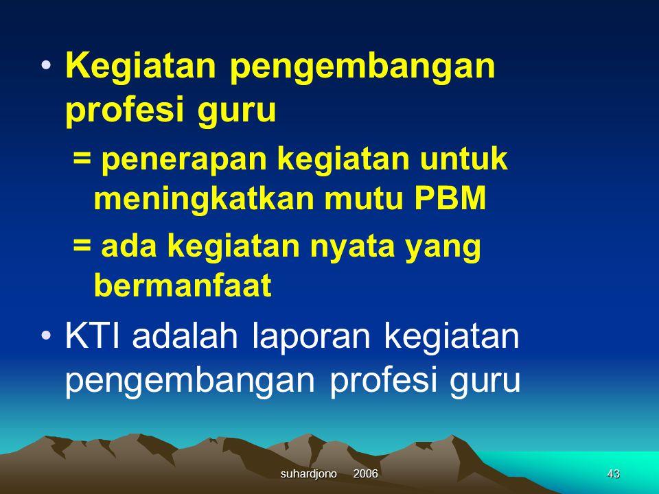 Kegiatan pengembangan profesi guru