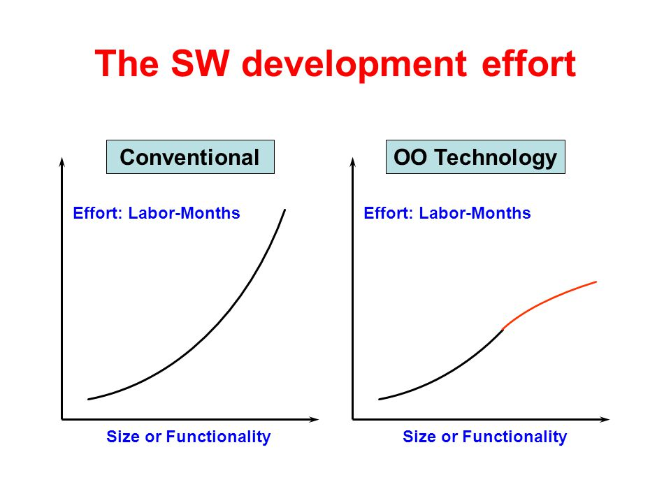 The SW development effort