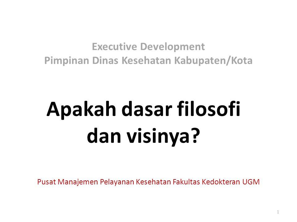 Executive Development Pimpinan Dinas Kesehatan Kabupaten/Kota