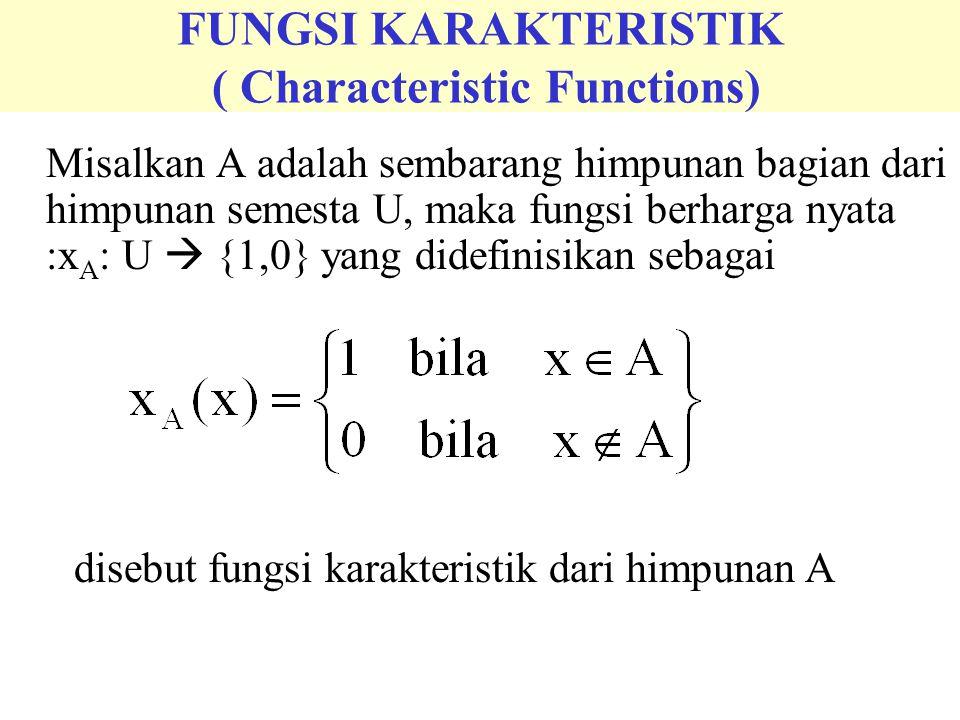 FUNGSI KARAKTERISTIK ( Characteristic Functions)