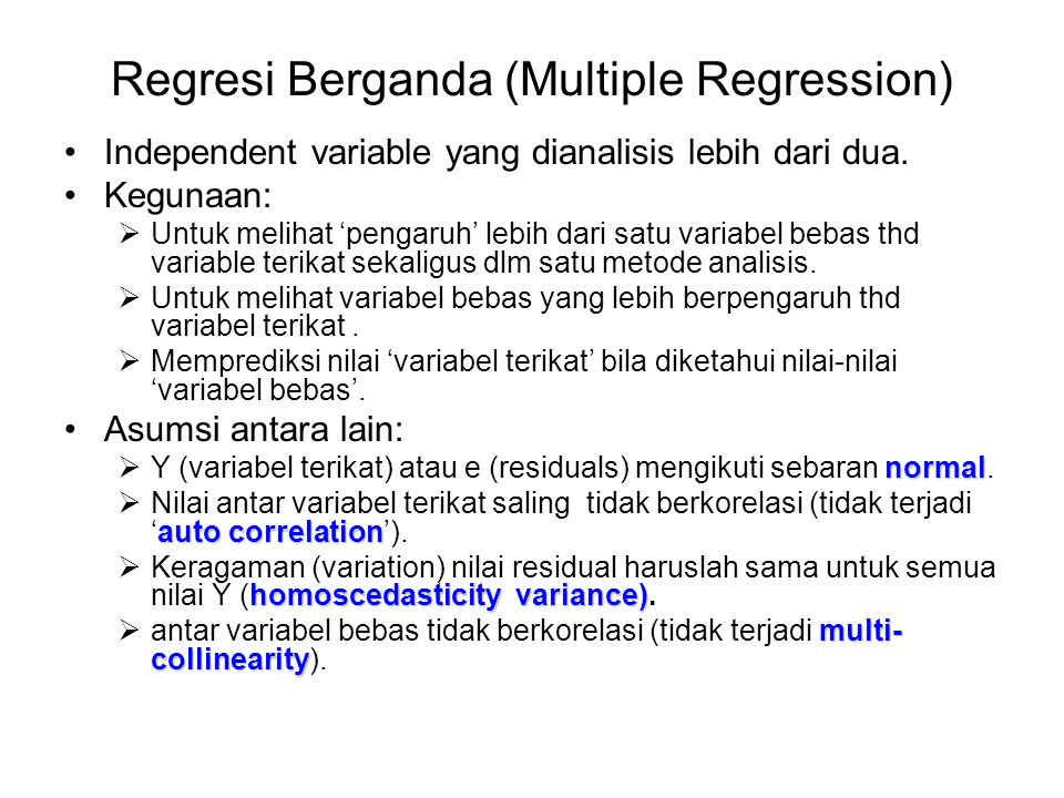 Regresi Berganda (Multiple Regression)