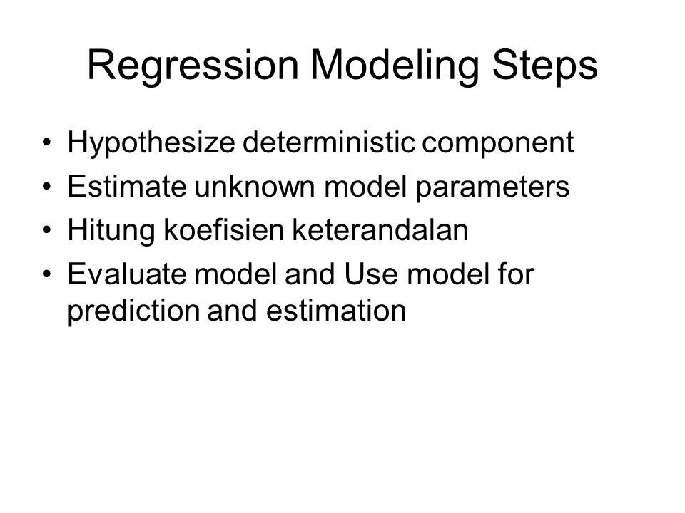 Regression Modeling Steps