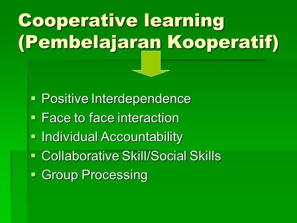 Cooperative learning (Pembelajaran Kooperatif)