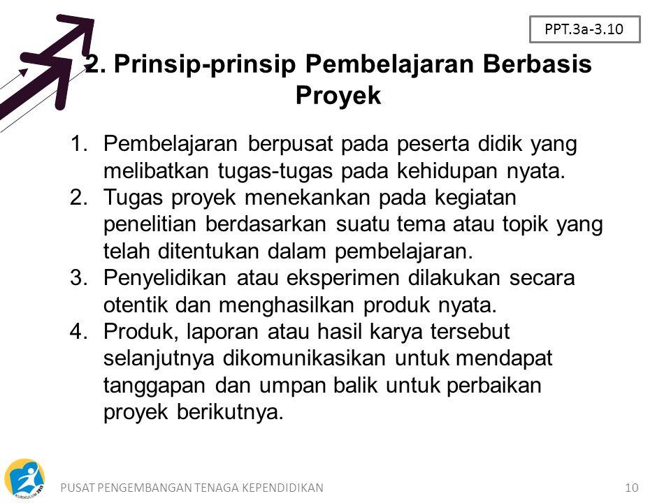 2. Prinsip-prinsip Pembelajaran Berbasis Proyek