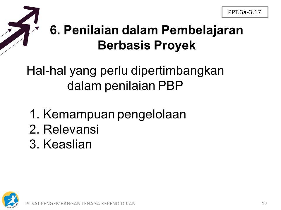 6. Penilaian dalam Pembelajaran Berbasis Proyek