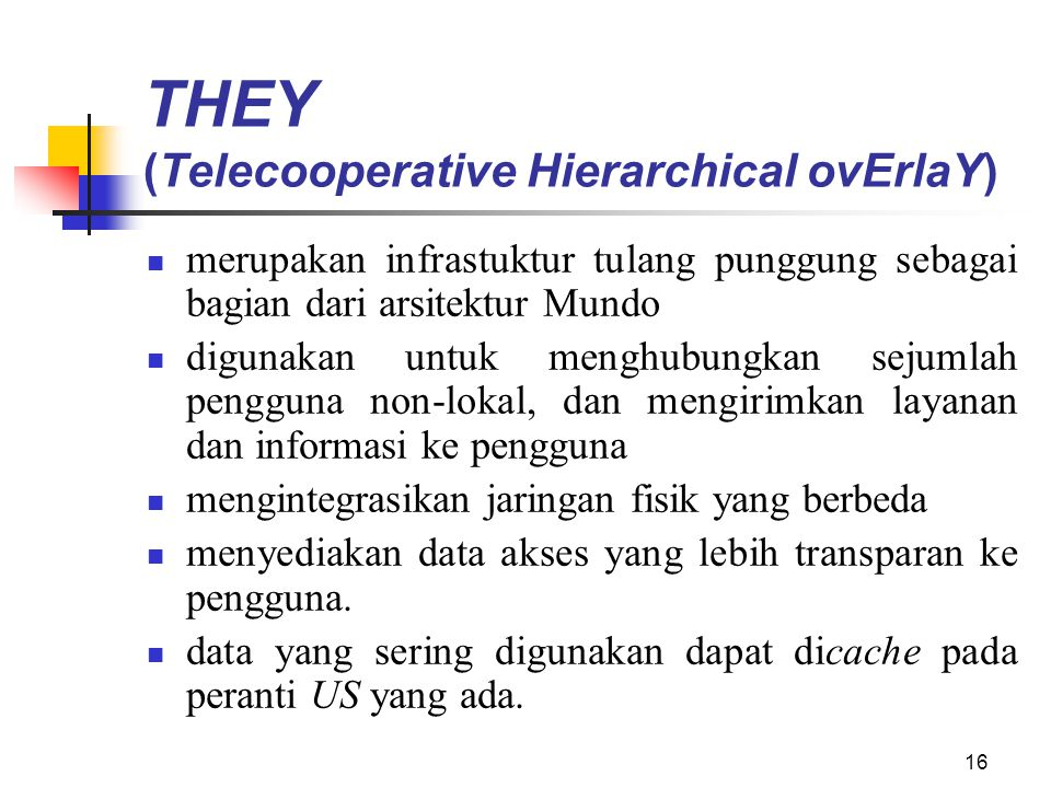 THEY (Telecooperative Hierarchical ovErlaY)