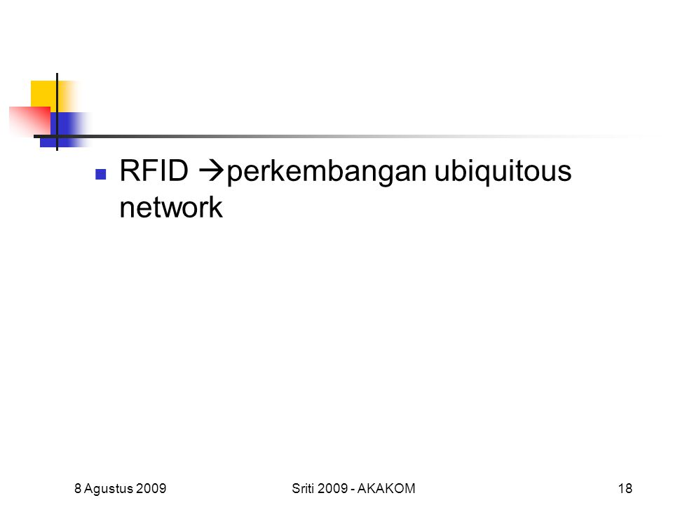 RFID perkembangan ubiquitous network
