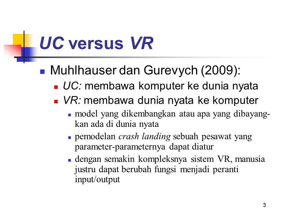 UC versus VR Muhlhauser dan Gurevych (2009):