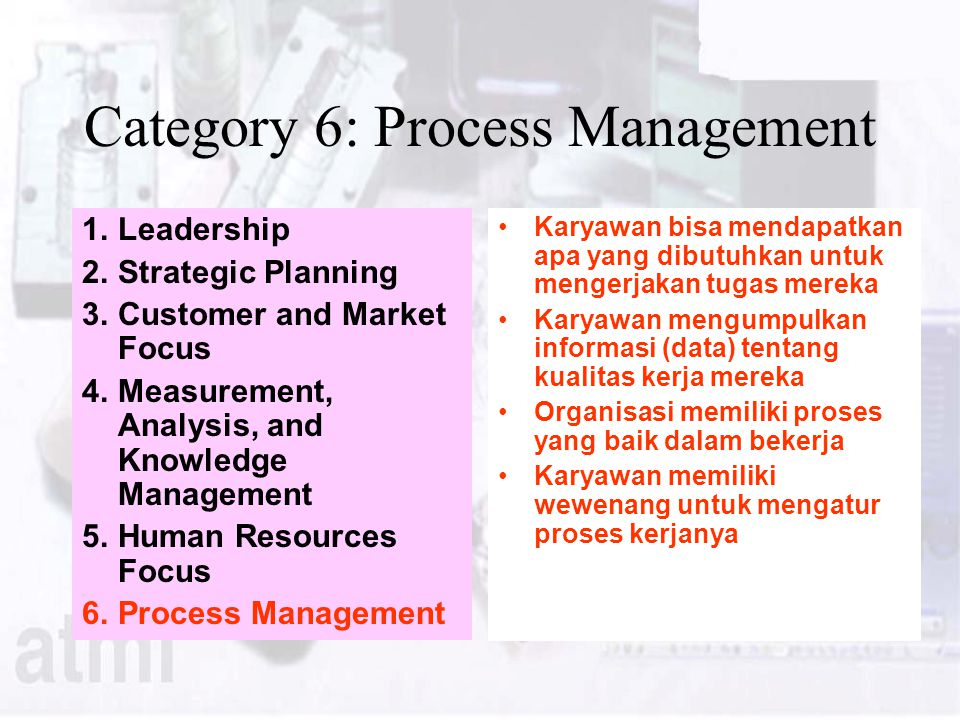Category 6: Process Management