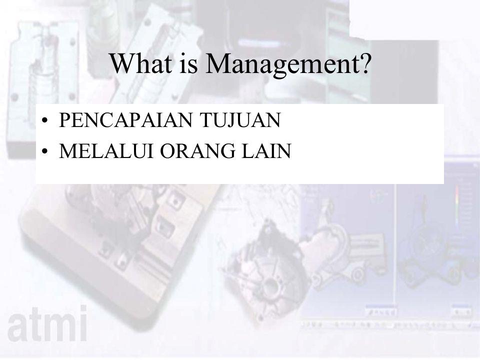 What is Management PENCAPAIAN TUJUAN MELALUI ORANG LAIN