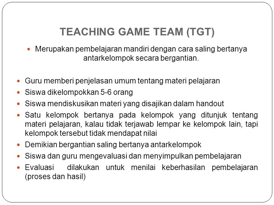 TEACHING GAME TEAM (TGT)
