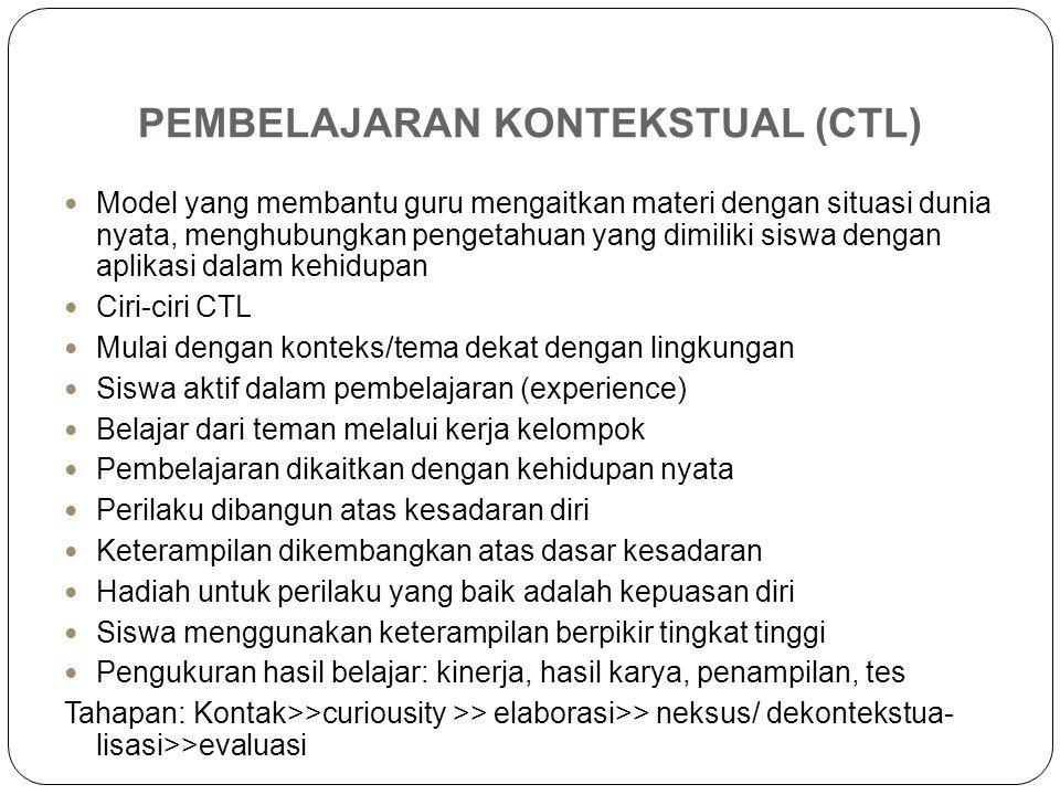PEMBELAJARAN KONTEKSTUAL (CTL)