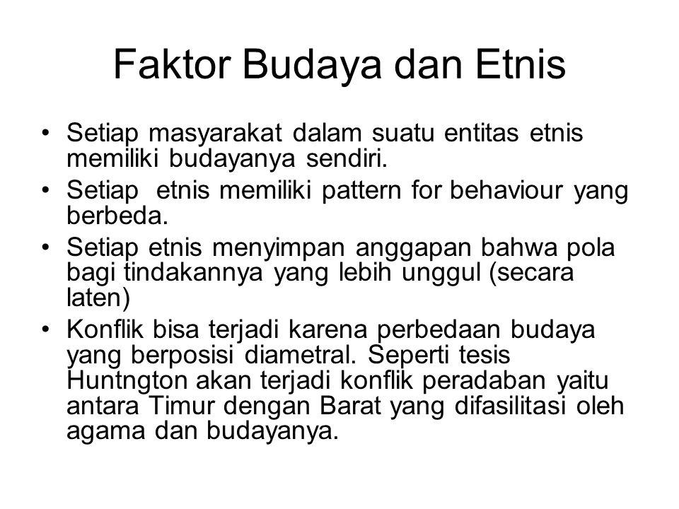 Faktor Budaya dan Etnis