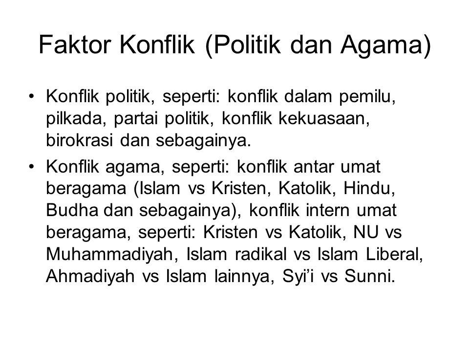 Faktor Konflik (Politik dan Agama)