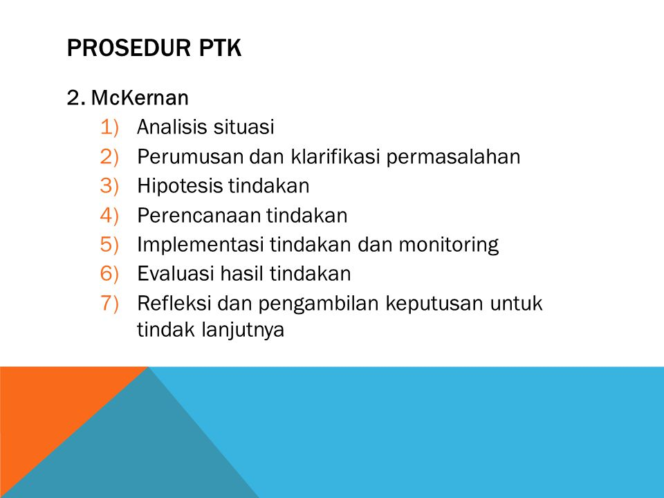 PROSEDUR PTK 2. McKernan Analisis situasi