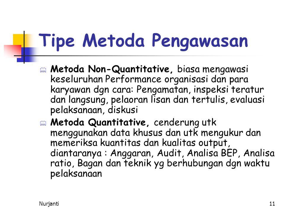 Tipe Metoda Pengawasan