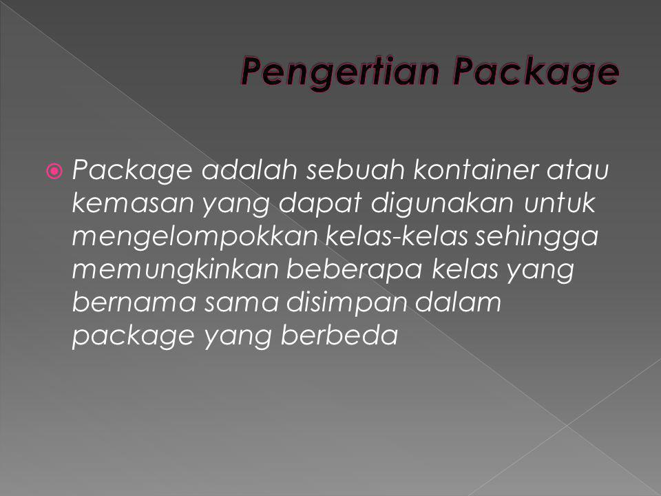 Pengertian Package