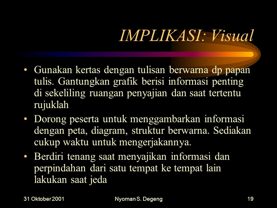 IMPLIKASI: Visual