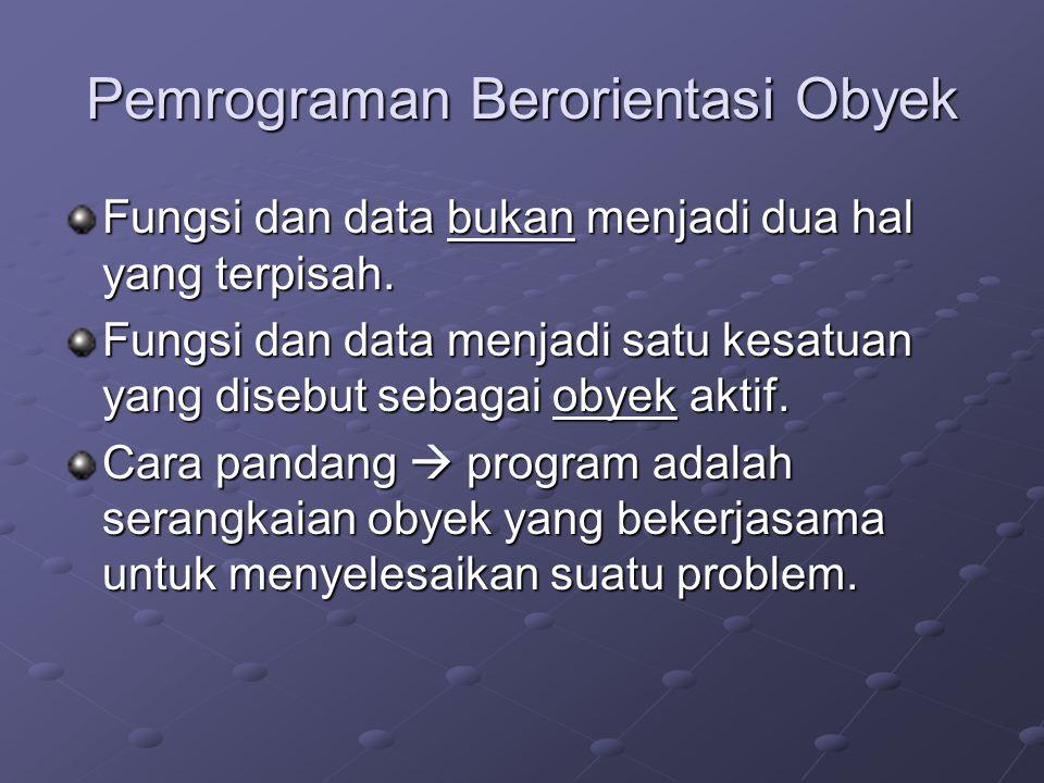 Pemrograman Berorientasi Obyek