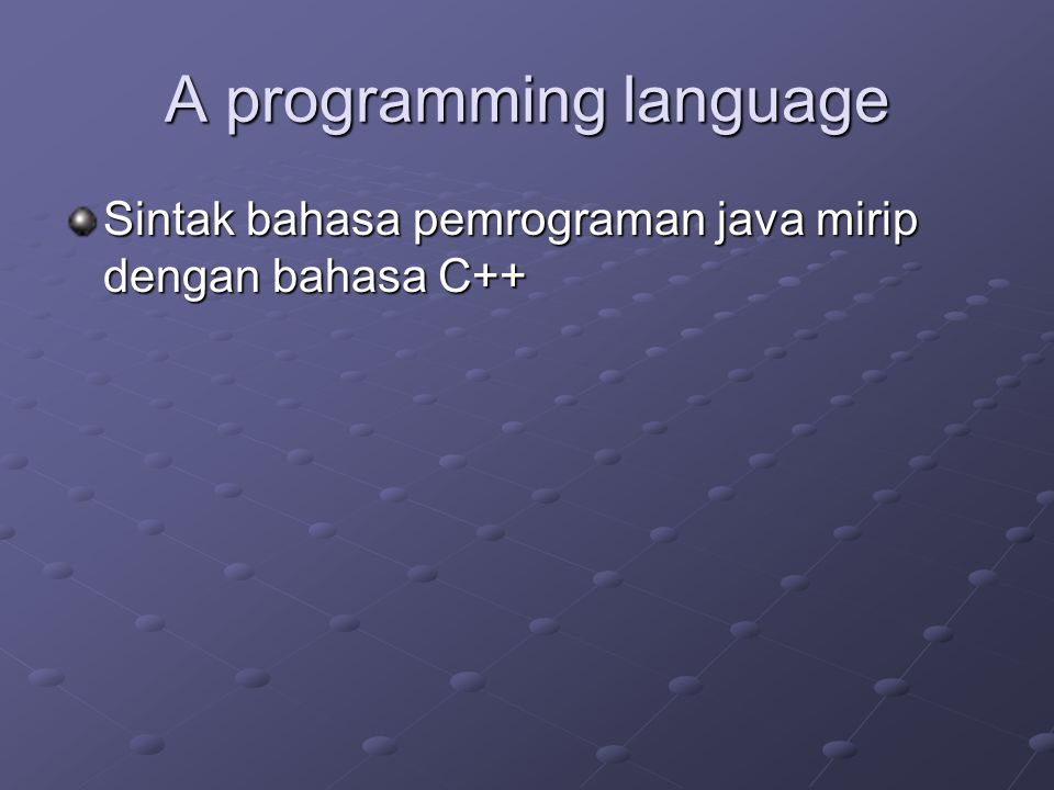 A programming language