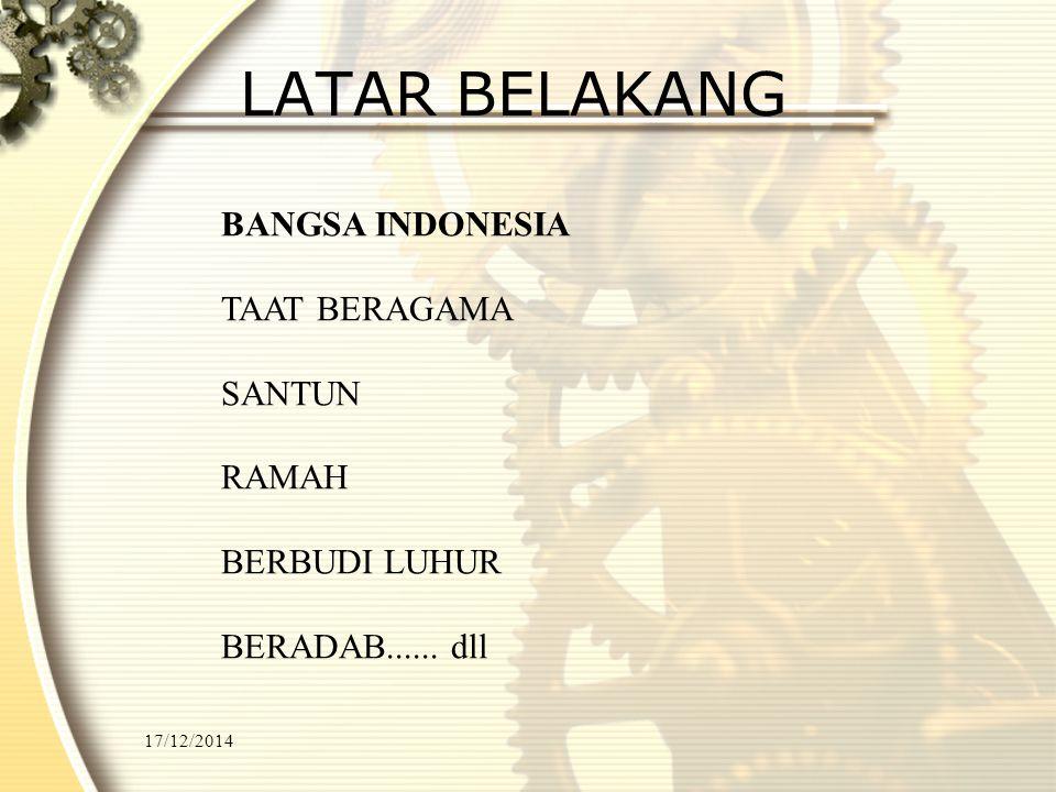 LATAR BELAKANG BANGSA INDONESIA TAAT BERAGAMA SANTUN RAMAH
