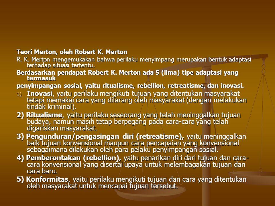 Teori Merton, oleh Robert K. Merton