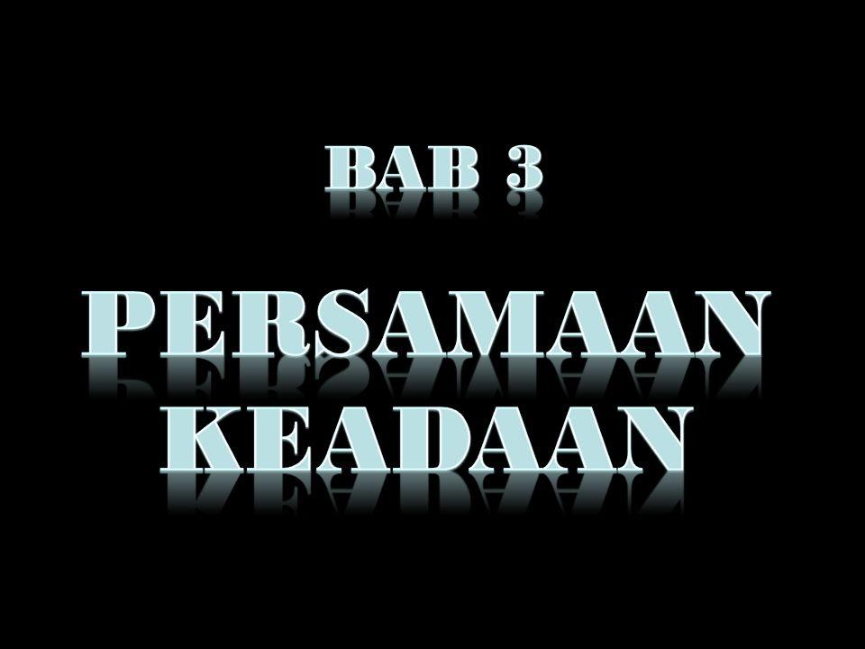 BAB 3 PERSAMAAN KEADAAN