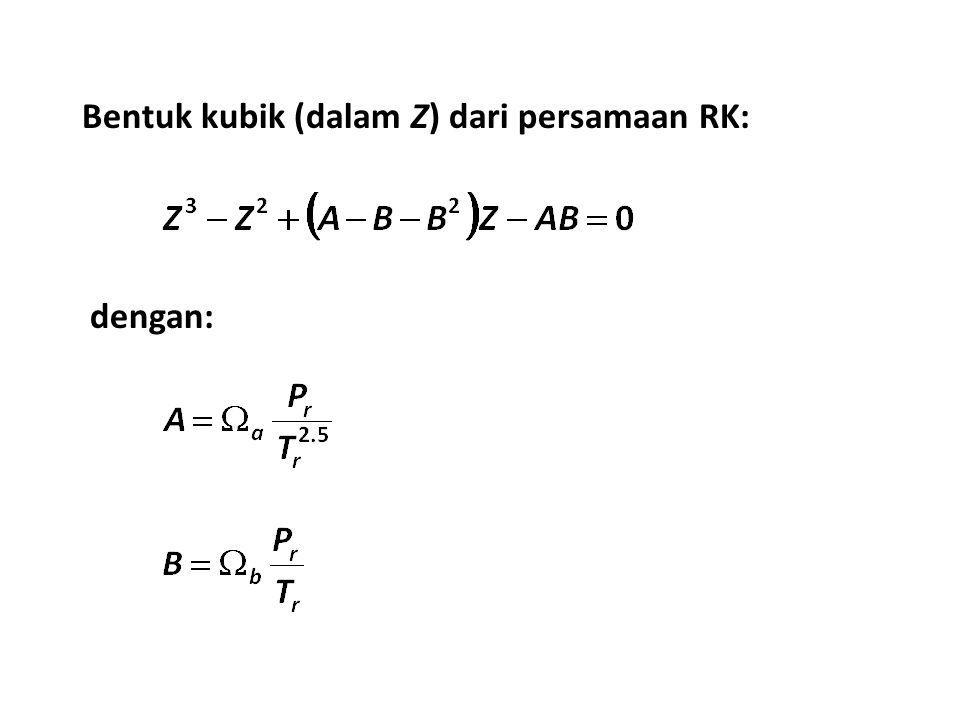 Bentuk kubik (dalam Z) dari persamaan RK: