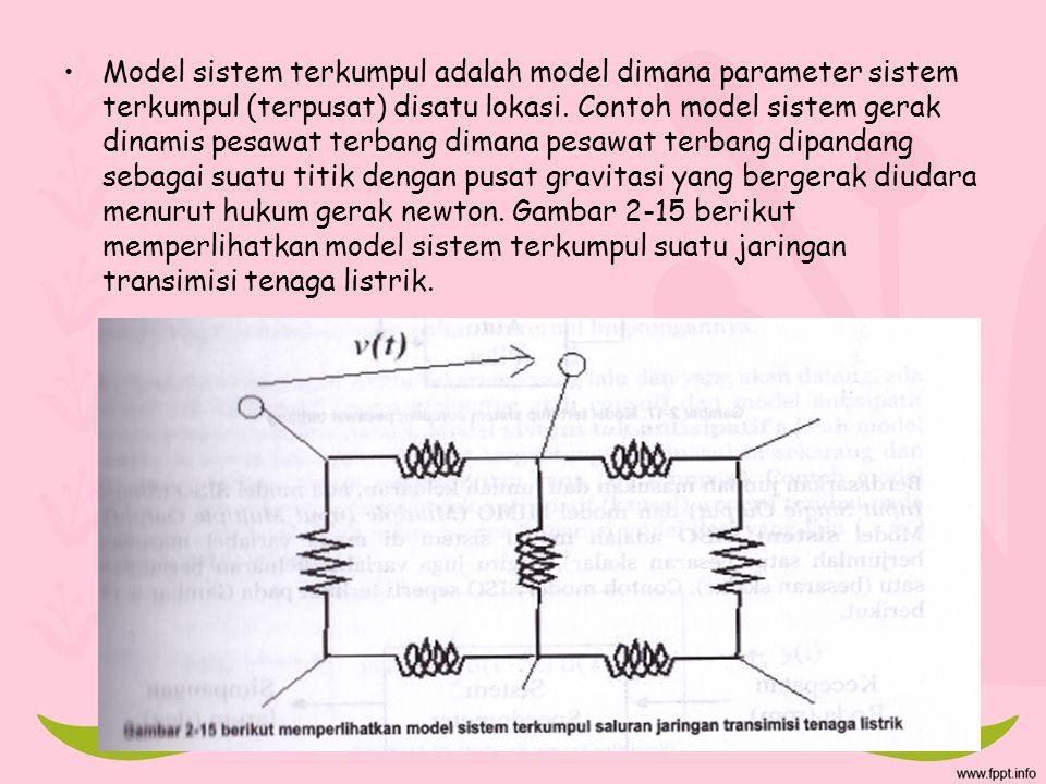 Model sistem terkumpul adalah model dimana parameter sistem terkumpul (terpusat) disatu lokasi.