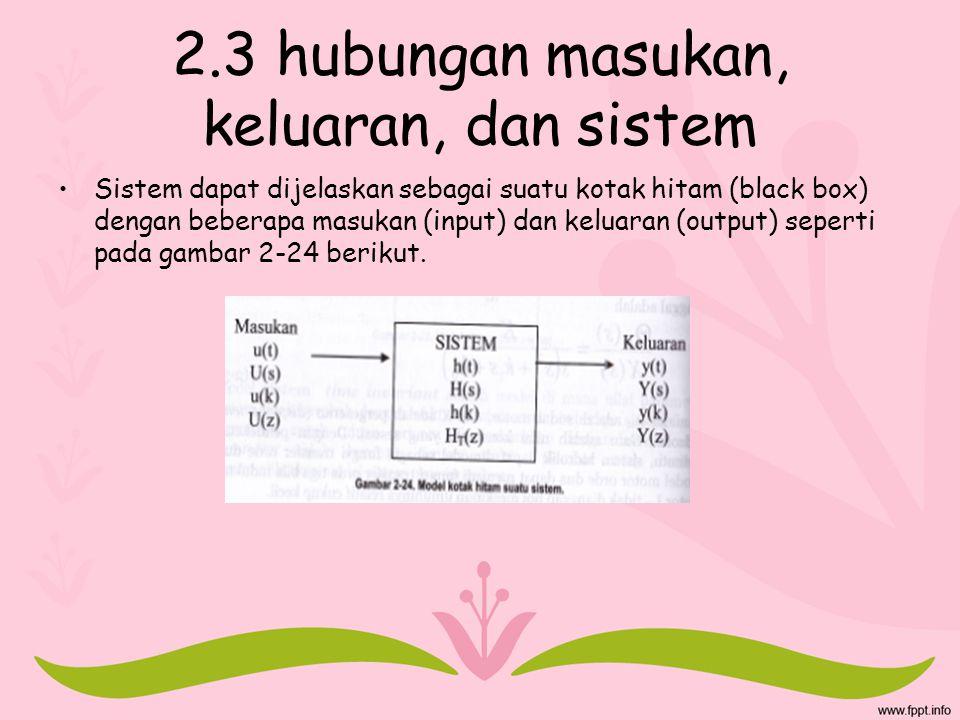 2.3 hubungan masukan, keluaran, dan sistem
