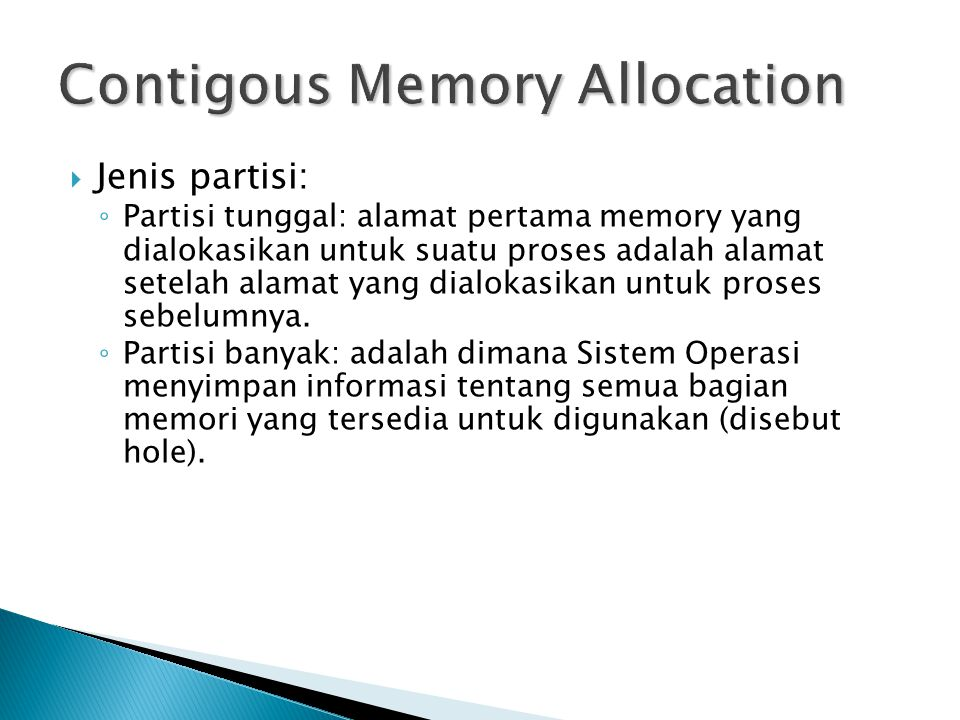 Contigous Memory Allocation