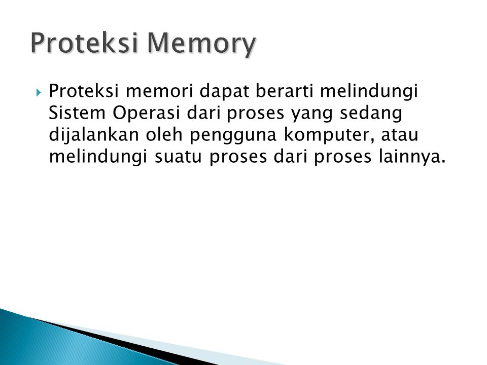 Proteksi Memory