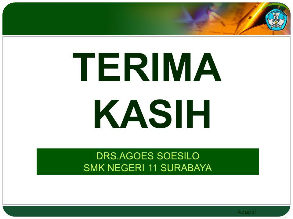 TERIMA KASIH DRS.AGOES SOESILO SMK NEGERI 11 SURABAYA