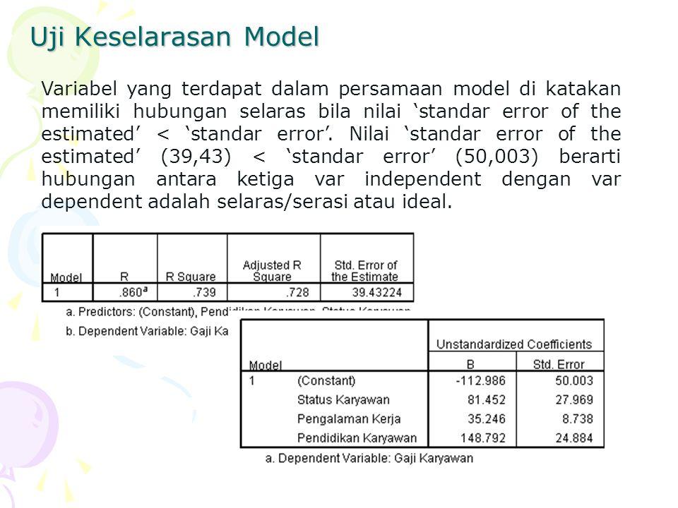 Uji Keselarasan Model