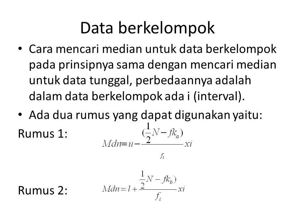 Data berkelompok