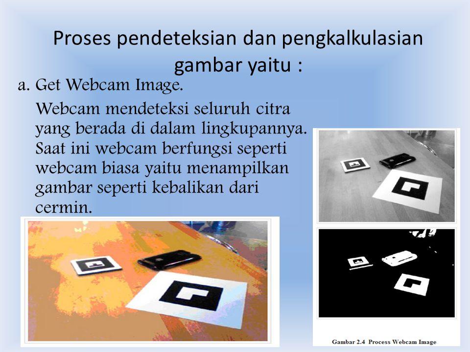 Proses pendeteksian dan pengkalkulasian gambar yaitu :