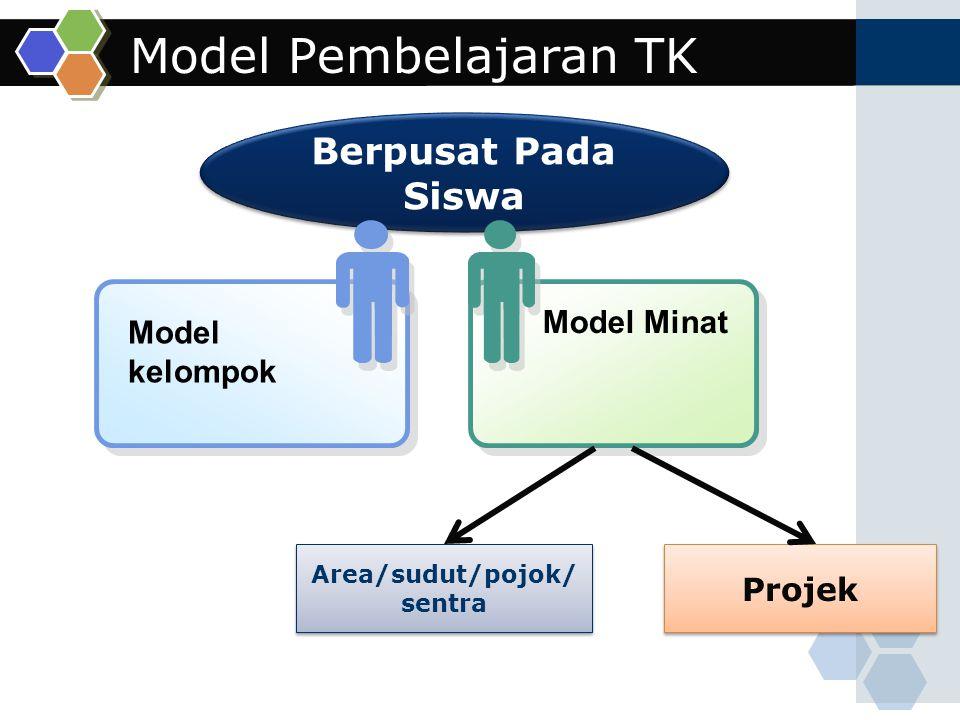 Model Pembelajaran TK Berpusat Pada Siswa Model Minat Model kelompok