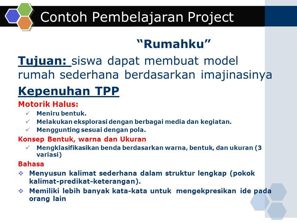 Contoh Pembelajaran Project