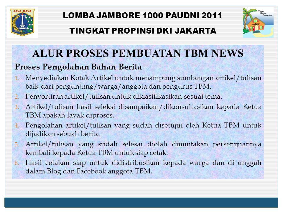 ALUR PROSES PEMBUATAN TBM NEWS