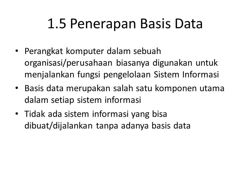 1.5 Penerapan Basis Data