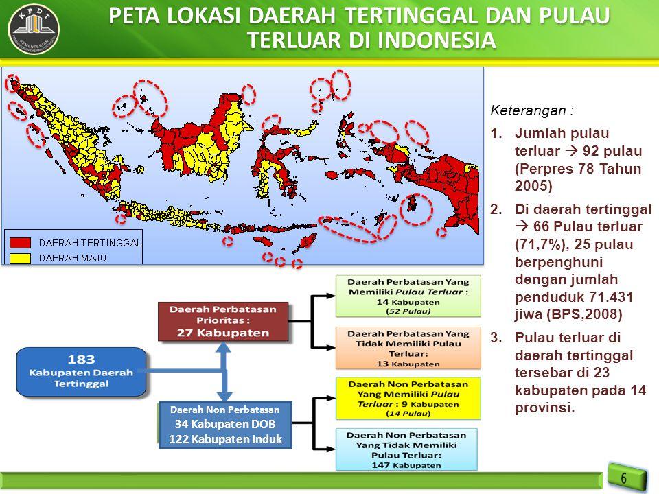 PETA LOKASI DAERAH TERTINGGAL DAN PULAU TERLUAR DI INDONESIA