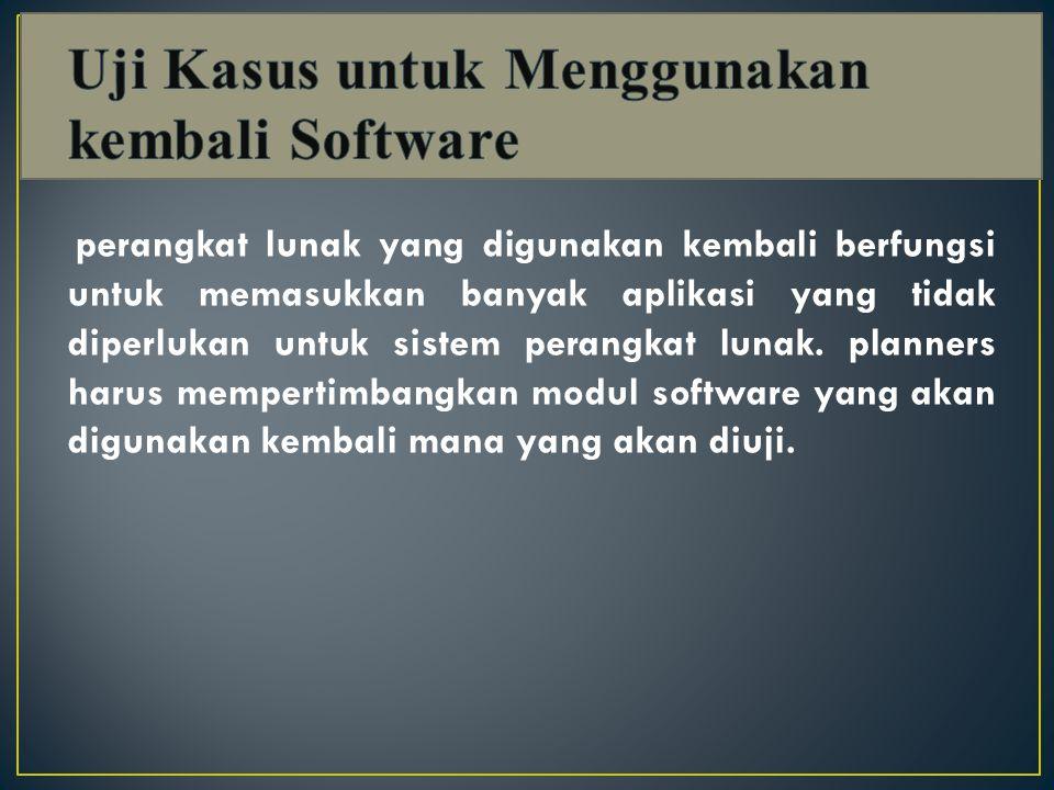 Uji Kasus untuk Menggunakan kembali Software